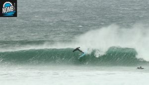 Campchef Basti fully committing to the wipe-out of the week during IRELAND INTENSE surftrip