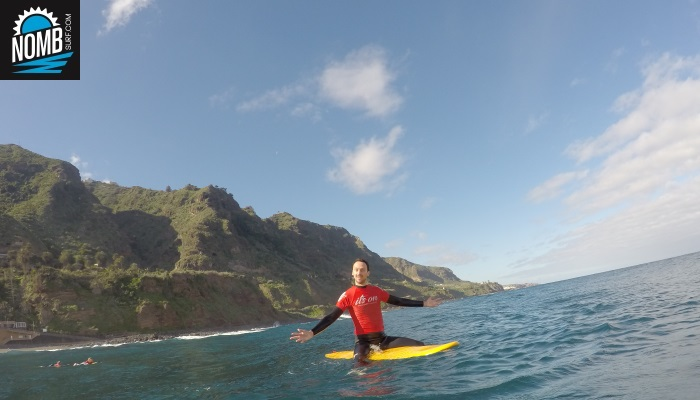 Great waves and a breathtaking view while surfing on Tenerife