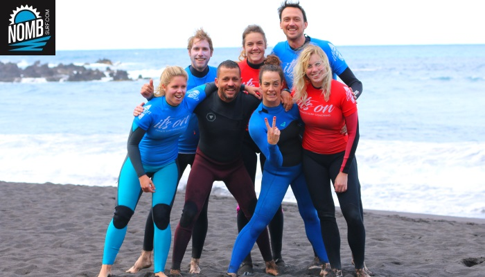 Great surfteam on Tenerife, the NOMB Surfers and local surfguide and legend Emilio de Armas