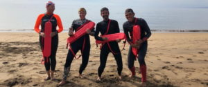 Lifeguard training on Lanzarote