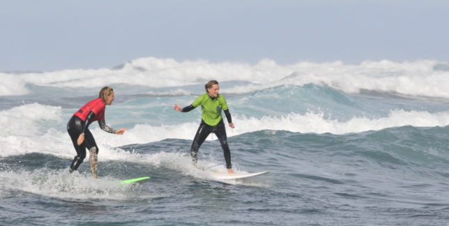 Have your personal surfcoach giving you tips while you are on the wave