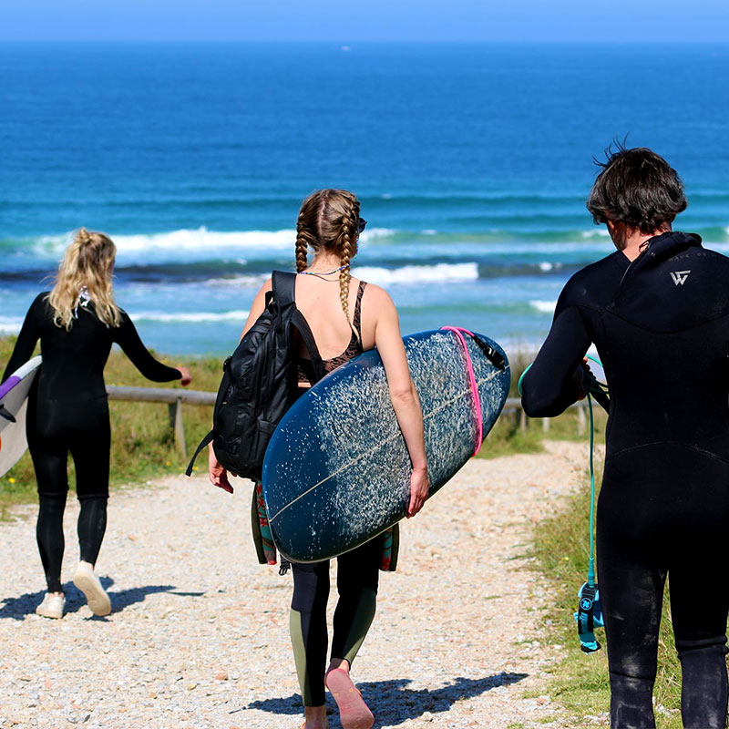 Walking to the spot at Galicia